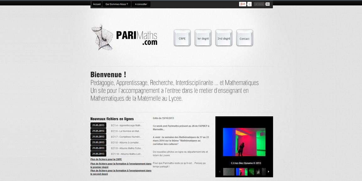 Site Internet de Parimaths