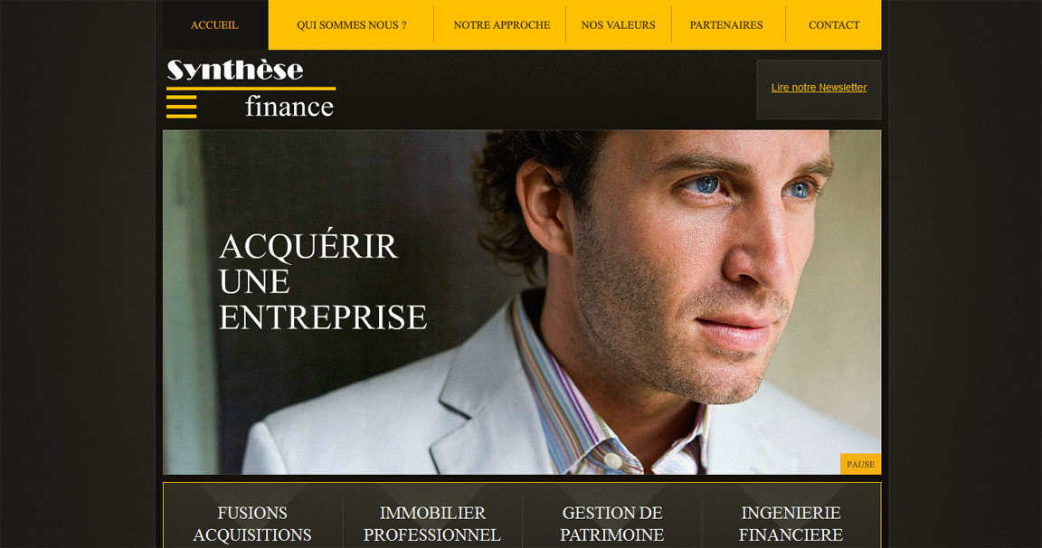 Site Internet de Synthèse Finance à Avignon
